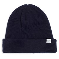 Norse Projects Navy Wool Beanie Blue