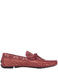 Just Cavalli Snake Effect Loafers Pink