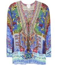 Camilla Embellished Silk Shirt Multicoloured