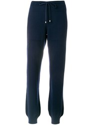 Barrie Cashmere Joggers Blue