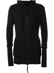 Thom Krom Layered Zipped Hoodie Black