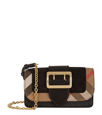 Burberry Shoes And Accessories Mini Buckle Bag With House Check Female Black