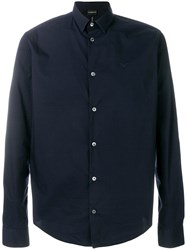 Emporio Armani Classic Button Down Shirt Blue