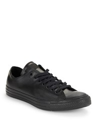 Converse Unisex All Star Low Top Rubber Sneakers Black On Black