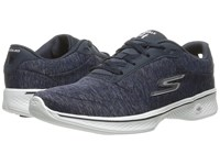 Skechers Go Walk 4 Navy White Women's Shoes Blue