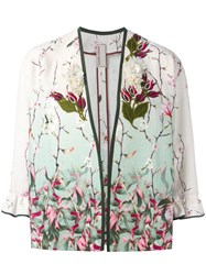 Antonio Marras Embroidered Flower Jacket Nude Neutrals