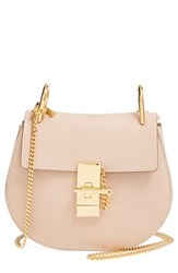 Chloe Chloe 'Small Drew' Leather Shoulder Bag Pink Cement Pink