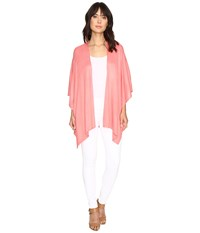 Echo Everyday Luxe Ruana Pink Guava Women's Short Sleeve Pullover
