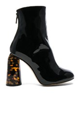 Ellery Patent Leather Tempo Boots In Black
