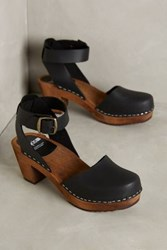 Anthropologie Funkis Ester Clogs Black 36 Euro Wedges
