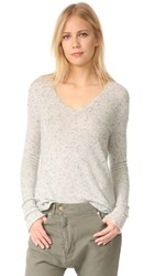 Atm Anthony Thomas Melillo Cashmere Donegal V Neck Sweater Marble Donegal