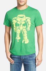 Ames Bros 'Man Bot' Graphic T Shirt Lucky Green Yellow