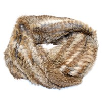 Lindo F Fur Infinity Scarf Natural Brown