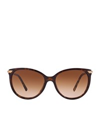 Burberry Shoes And Accessories Round Tortoiseshell Sunglasses Female Brown