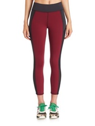 Michi Stardust Crop Legging Shiraz Red Black