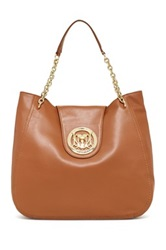 Love Moschino Leather Chain Strap Hobo Beige