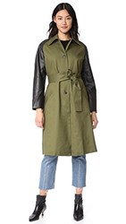 Veda Army Trench Coat Army Black