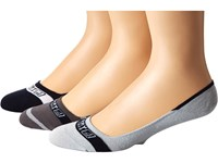 Sperry Signature Invisible 3 Pair Pack Charcoal High Rise Men's Crew Cut Socks Shoes Yellow