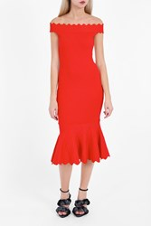Jonathan Simkhai Women S Diamond Trumpet Dress Boutique1 Red