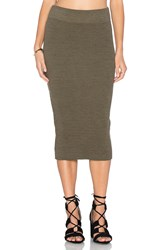 James Perse Heavy Rib Skinny Skirt Olive