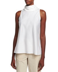 The Row Luna Tie Back Sleeveless Top White