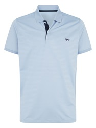 Wolsey Shadow Stripe Regular Fit Polo Shirt Blue