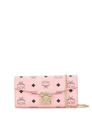 Mcm Patricia Chain Wallet Pink