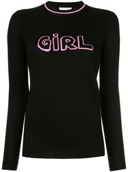 Bella Freud Girl Intarsia Jumper Black