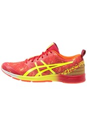 Asics Gelhyper Tri 2 Lightweight Running Shoes Flame Orange Safety Yellow True Red
