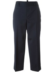 Dsquared2 High Rise Trousers Blue