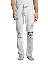 True Religion Washed Distressed Jeans Light Wash