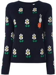 Chinti And Parker 'Miffy Daisy' Jumper Blue