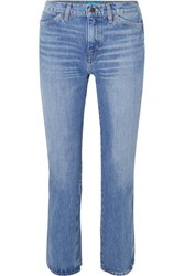 Mih Jeans M.I.H Cult Cropped High Rise Straight Leg Mid Denim