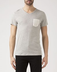 Iriedaily Beige Ringel T Shirt With Pocket