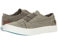Blowfish Marley Steel Grey Color Washed Canvas Flat Shoes Gray