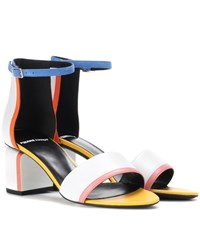 Pierre Hardy Rally Leather Sandals White