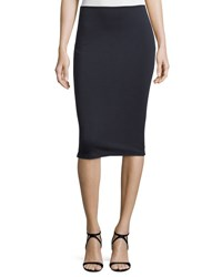 Alexander Wang High Lux Ponte Midi Skirt Navy