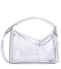 Loewe Puzzle Transparent Shoulder Bag White