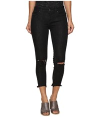 Free People Jeans Skinny Destroyed In Carbon Carbon Women's Jeans Gray
