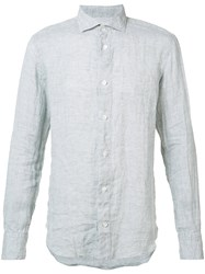 Eleventy Spread Collar Shirt Grey