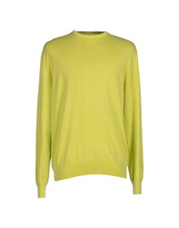 Heritage Knitwear Jumpers Men Acid Green