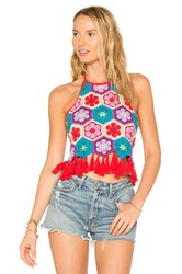 Show Me Your Mumu X Revolve Dylan Crop Top Red