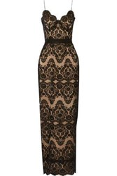 Catherine Deane Harlequin Lace Gown Black