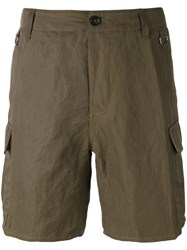 Ermanno Scervino Multi Pocket Cargo Shorts Men Cotton Linen Flax Polyamide Metallized Polyamide 52 Green