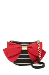 Betsey Johnson Bow Bow Bow Crossbody Red