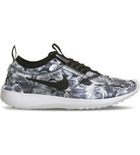 Nike Juvenate Floral Print Foldable Trainers Black White Floral