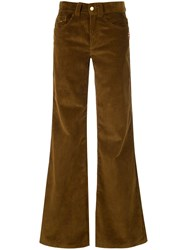 Marc Jacobs The Flared Jean Brown
