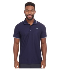 New Balance Challenger Classic Polo Aviator Men's Short Sleeve Pullover Navy