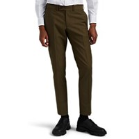 Brooklyn Tailors Cotton Wool Cavalry Twill Trousers Green