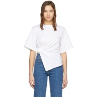 See By Chloe White Knotted T Shirt